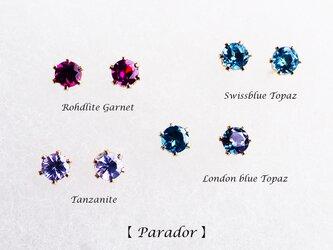 再販】選べる4種★プレシャスジュエル3mmの14KGFスタッドピアス ~Paradorの画像
