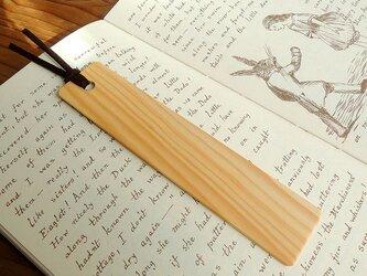 綾榧(アヤカヤ)の木製しおり 木目タイプAの画像