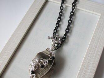 ミルクココア色のペンダントトップ ネックレス  の画像