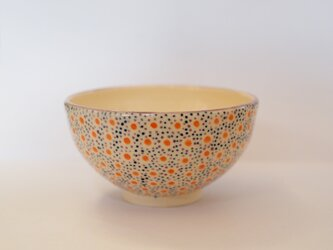 手描き点々のお茶碗の画像