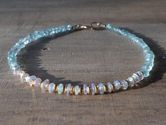 Opal& Sea Bracelet 14kgf プレシャスオパールの画像