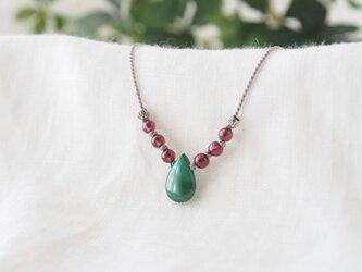 Malachite Short Necklace(Red)の画像
