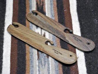 ベルト織りのための手作りシャトル ウォールナット ベルトシャトル ビーターの画像