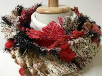 フワフワ 手織りコンパクトスヌードの画像