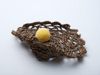 和紙編み白檀塗り小皿(扇)の画像