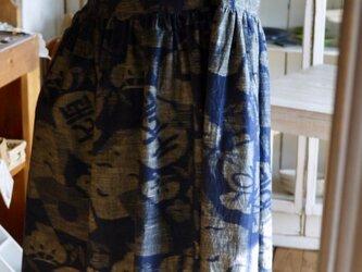 久留米絵絣反物からワンピースの画像