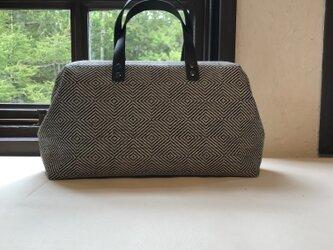 Boston bag  M size [Växbo Lin]黒ひし形の画像