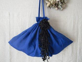 dahlia 「bleu」 リネンバッグの画像