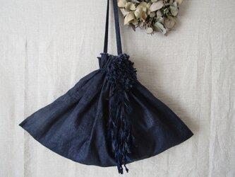 dahlia 「indigo」 リネンバッグの画像