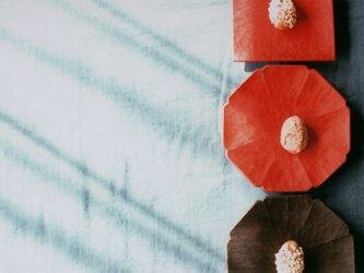 豆皿 赤漆の画像