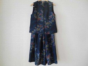 紬のベストとスカートのセットの画像
