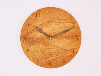 木製 掛け時計 丸型 桜材11の画像