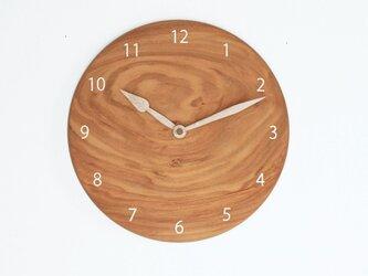 木製 掛け時計 丸型 桜材14の画像
