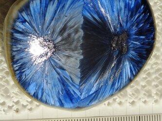 結晶釉文様のブローチ 3の画像