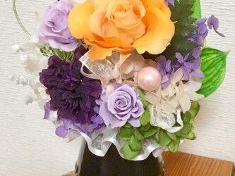 フォーネラルフラワー プリザーブドフラワーのお供え花の画像