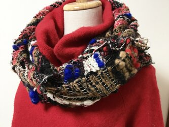羊毛ぷくぷく手織りスヌードの画像