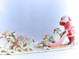 クリスマス限定 犬ぞりハスキー&サンタの画像