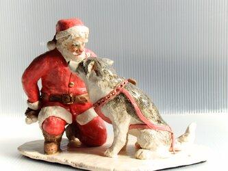 クリスマス限定 ハスキーwithサンタ!! ごほうびは?の画像