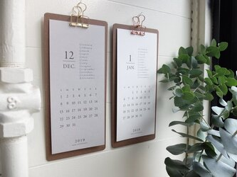 カレンダー用 クリップボード(クリップ ゴールド)の画像