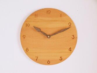 木製 掛け時計 丸型 松材3の画像