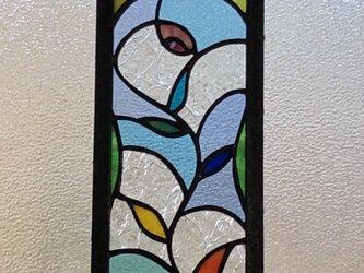 ステンドグラス 小さいパネル アンティークガラスの画像