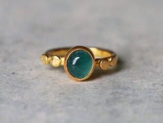 古代スタイル*天然グランディディエライト 指輪*10号 GPの画像