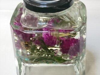 センニチコウのハーバリウム☆ラベンダーの香りの画像