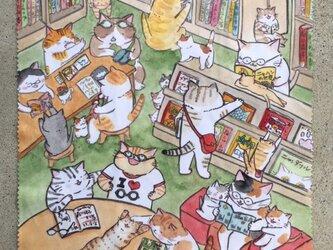 猫まみれ マイクロファイバークロス! メガネや携帯拭きに♬の画像