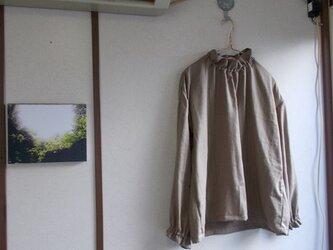 ダブルガーゼスタンドフリルプルオーバーの画像