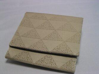 y様 専用とさせて戴きます 帯地とグレー小紋の正絹 帛紗入れ 古帛紗が折らずに入りますの画像