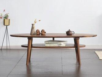 受注生産 北欧家具/ヴィンテージ風 ローテーブル/センターテーブル パイン無垢集成材 サイズオーダー可 ロータイプ 国産の画像