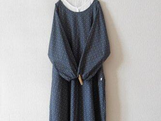 木綿のかっぽう着 灰青の画像
