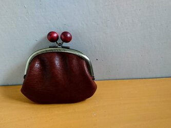 木玉がまぐち/ブラウンの画像