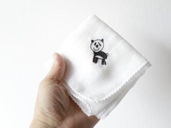 ガーゼハンカチ(パンダ)の画像