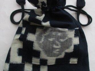 送料無料 久留米の絵絣で作った巾着袋 3983の画像