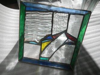 浅いモザイクトレイ*大* ステンドグラスの画像