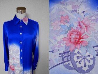 着物ロングシャツ(ボウタイ付き) LO-142/Mの画像