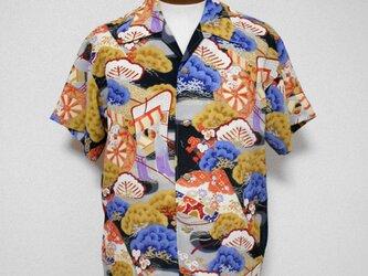 着物アロハシャツ Kimono Aloha Shirt AL-602/Lの画像