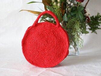 裂き編みバッグ(ラウンド型)少し小さ目サイズの画像