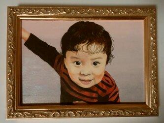 ミニチュア肖像画 オーダーメイドの参考見本「あるけるよ!」の画像