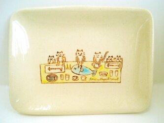 ねこレストラン絵皿の画像