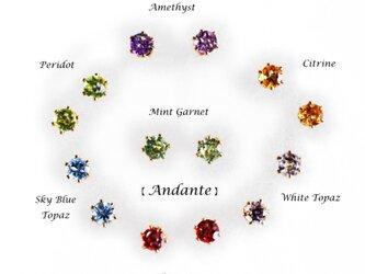 再販】選べる7種★デイリージュエル3mmの14KGFスタッドピアス ~Andanteの画像
