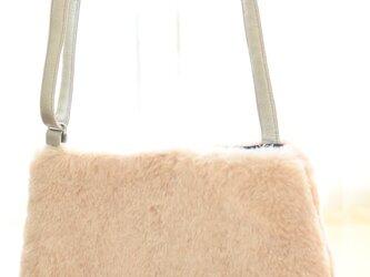ピンク エコファー ポシェット サコッシュ ボディバッグ ショルダーバッグ キッズ 旅行の画像
