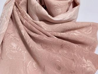 草木染シルクジャガードストール 薔薇の画像