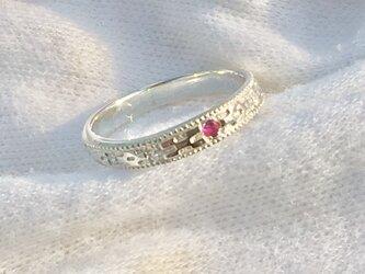 ミンサー指輪(ルビー入り)の画像