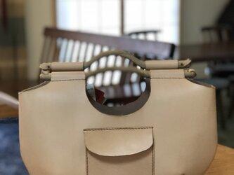 本革手縫いの ubud bag #B(ヌメ)の画像