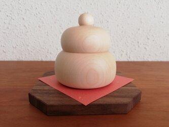 木の鏡餅 セットWの画像