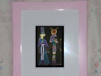 ネフェルタリを導く女神イシスの画像
