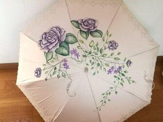 日傘におすすめ晴雨兼用カサ「紫のささやき」プレゼントに最適の画像
