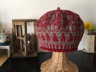 北欧トラディショナルベレー帽 【ショコラルージュ】の画像